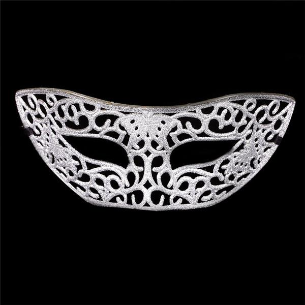 (100 pieces/lot) New glittered hollow plastic solid color half-face sexy women's masquerade party masks