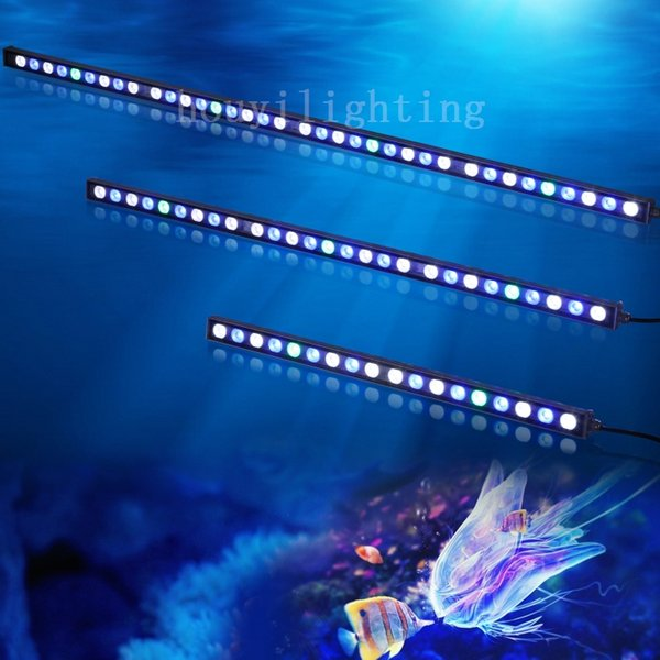 2018 top quality waterproof 108w led aquarium grow light bar white top quality waterproof 108w led aquarium grow light bar white blue ip65 for reef coral fish aloadofball Image collections