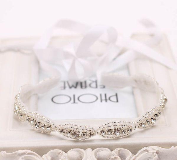 Baby Girl Rhinestone Headband For Hair Accessories Wedding Princess Women Crystal Headband Christening Headband 2pcs /Lot