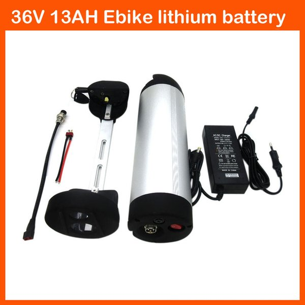 500W 36V Ebike battery 36V 13AH water bottle bicycle Lithium battery Use 3.7V 2600MAH 18650 Cell with 15A BMS 42V 2A charger