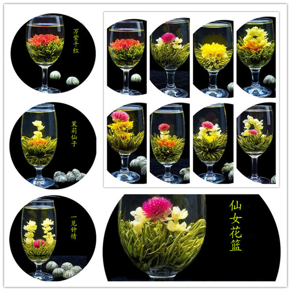 32pcs 16 styles kinds blooming flower tea leaves technology scented tea art viewing blossom flower process tea leaves sale