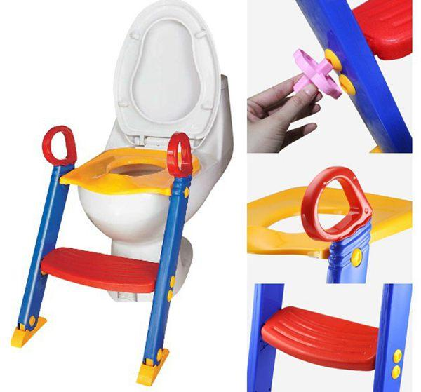 top popular Baby Toddler Potty Training Toilet Ladder Seat Steps Safety child loo Chair  Children toilet ladder chair 2019
