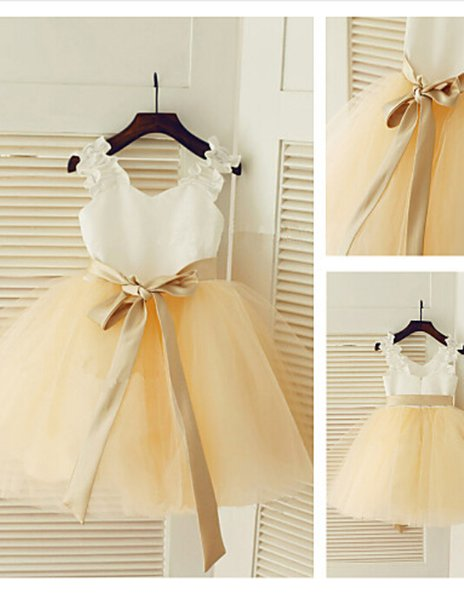 2020 New Cheap FashionBeautiful Ball gown Princess Jewel Flower Girl Dress Easter Halloween Christmas Birthday Clothes