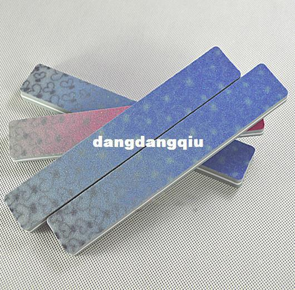 Wholesale-407-10pcs Pro 100/180 High Quality Double Side Grey Rectangle Washable Sanding Nail Art Buffers Tools Files Sandpaper S-01 Wholesa
