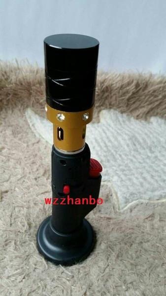 2015 Grenad click n vape metal smoking pipes Dry Herb Vaporizer incense burner Crystal sneak a vape for tobacco Wind Proof Torch lighters