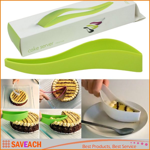 Portable Cake Pie Cutter Slicer Kitchen Accessories Baking Pastry Tools Plastic Streamline Wire Cake Server Dessert Tools