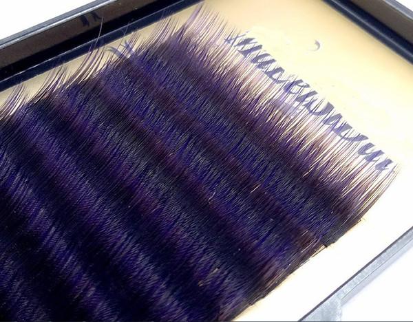 J/B/C/D curl 0.1mm 8-14mm false lashes Gradient purple color eyelash individual colored lashes Faux volume eyelash extensions