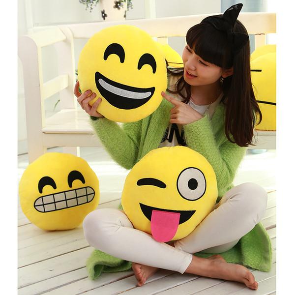 22 Стили Диаметр 30см Подушка Симпатичные Прекрасный Emoji смайлик Подушки Мультфильм Подушка Подушки Желтый Круглый Подушка Фаршированные Плюшевые игрушки