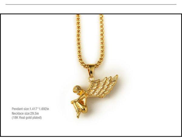 Angel baby pendants 76cm long high quality fashion star hiphop angel baby pendants 76cm long high quality fashion star hiphop charm 18k gold filled chain statement aloadofball Choice Image