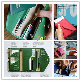 Multifunktions Crown Short Style Folding Reisepässe Brieftasche Ultradünne Flip PU Weichleder Münztüte Unisex Reisedokument Inhaber ID Card Taschen