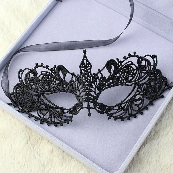 Free Shipping 10pc/lot vampire Cat woman Sexy Lady Black Lace party Mask Venetian Carnival Hollow Masquerade solid mask MJ05