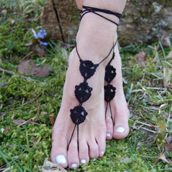 Crochet Wedding Accessories Barefoot Sandals Nude Shoes, Bridal Shoes, Accossories for Women Yoga Shoes, Beach Pool