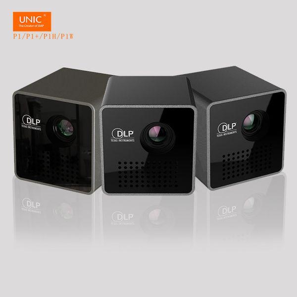 Al por mayor- ¡Muy pequeño! 95g solo! Handhold Micro DLP MINI LED proyector de cine en casa 3D beamer P1 batería incorporada con TF / Micro USB