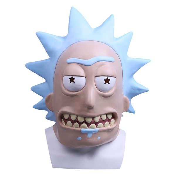 Rick Cosplay Masks Rick and Morty Full Head Adult Latex Helmets Halloween Party Mask Props Christmas Gift