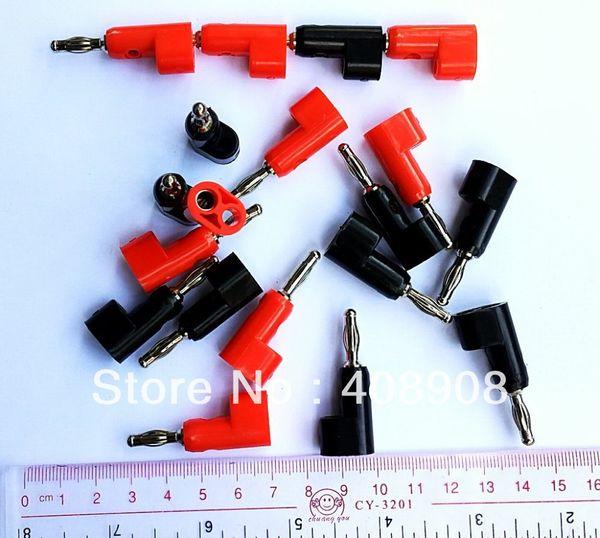 5 pcs vermelho + 5 pcs preto 4 MM Plugue Banana para LIGAR POST Sondas de Teste de Alto-falantes Amplificadores