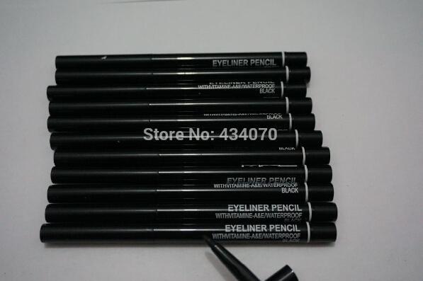 24pcs/lot FREE SHIPPING brand Makeup Rotary Retractable Black Eyeliner Pen Pencil Eye Liner
