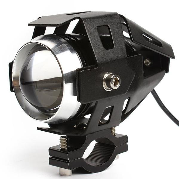 125W Motorcycle Headlight Fog Lights U5 LED Upper Low Beam Flash Driving Motorbike Spot Head Lamps Headlamp Motor Styling