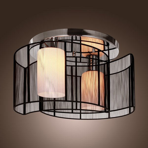 Modern minimalist living room ceiling lamps With Black Moon Design Lamp Shade free shipping