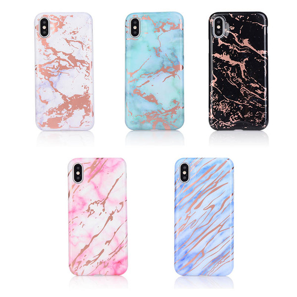 Glossy Marble Shockproof Thicker Silicone Case for Apple iPhone X Soft TPU Gel Cover for iPhone 7 8 6 6S Plus Case