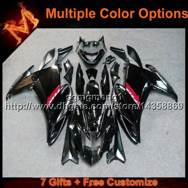 23colors + 8Gifts Cubierta de motocicleta NEGRA Para yamaha FZ6R 09 12 10 11FZ6R 2009 2012 2010 2011 Carenado de plástico ABS