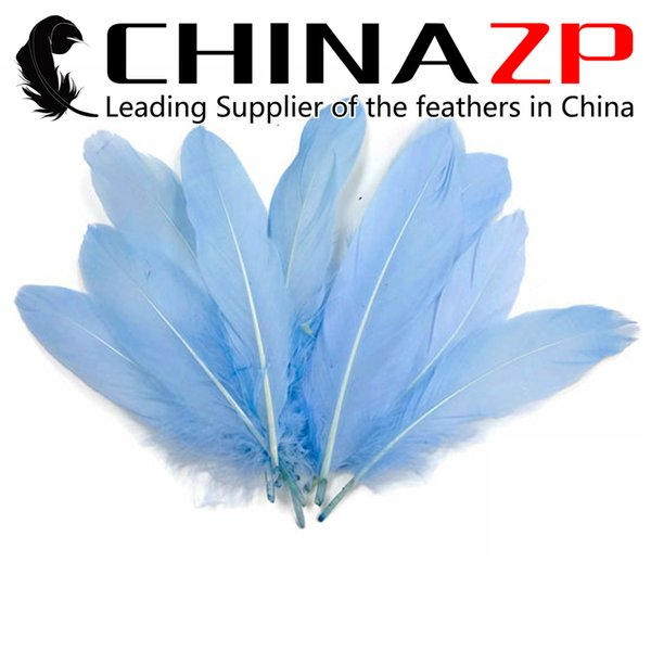 Leading Supplier CHINAZP Crafts Factory 10~15cm(4~6inch) Length Fantastic Fluffy Light Blue Goose Loose Feather for Halloween Party
