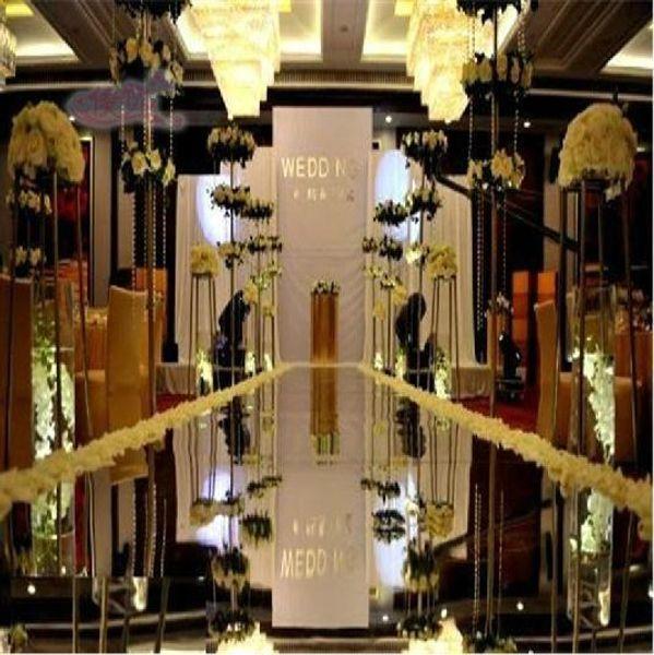 Wedding Centerpieces Mirror Carpet Aisle Runner Silver 1.2M/1M Design T Station Decoration Wedding Favors Carpets 2015 Hot Sale