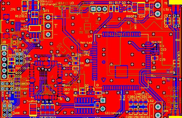 Sim900a module GPS GPRS Module Free Shipping schematic and pcb design file designed by Altium Designer