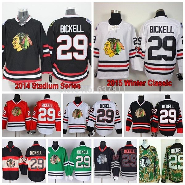 2015 Winter Classic Chicago Blackhawks Hockey Jerseys 29 Bryan Bickell Jersey Home Red White Black Bryan Bickell Stitched Jersey