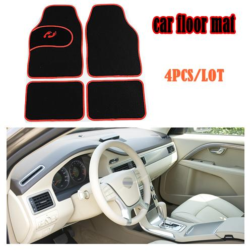 top popular Universal Car foot mat for auto anti slip mat , free shipping, three colors, left-steering ONLY! 3 Color Car Floor Mat 2019