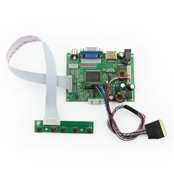 New HDMI VGA 2AV 30P LVDS Controller Board LCD Module Monitor Kit for Raspberry PI 2 3.3V 5V 12V LCD LED Screen Display Panel