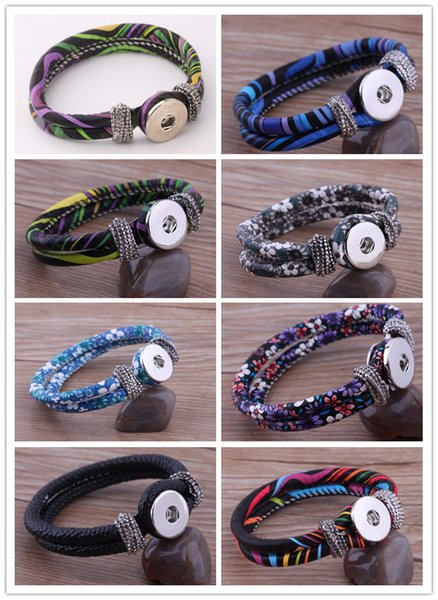 NOOSA mini noosa chunks snap button woven or leather bangles bracelets fashion hot ginger snaps interchangeable DIY Jewelry 8 colors