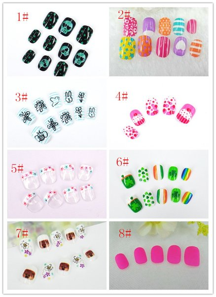 best selling Children's false nails abstract animal motifs of nail art products nail