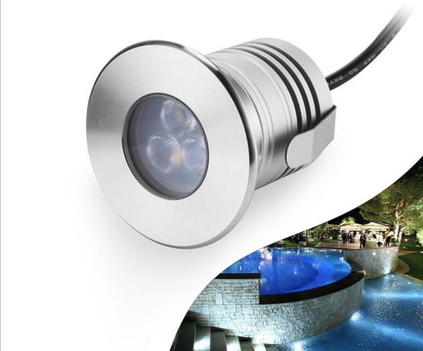Acier inoxydable IP68 LED lumière sous-marine 12V 3W Étanche Lumière souterraine de la lampe de la lumière souterraine Paysage de lumière de piscine à LED