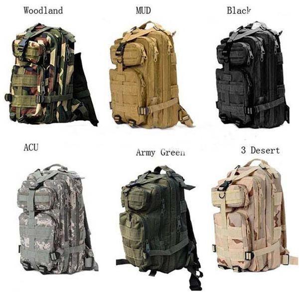 top popular 30L Outdoor Sport Military Tactical Backpack Molle Rucksacks Camping Trekking Bag backpacks 50pcs Free DHL Fedex 2019