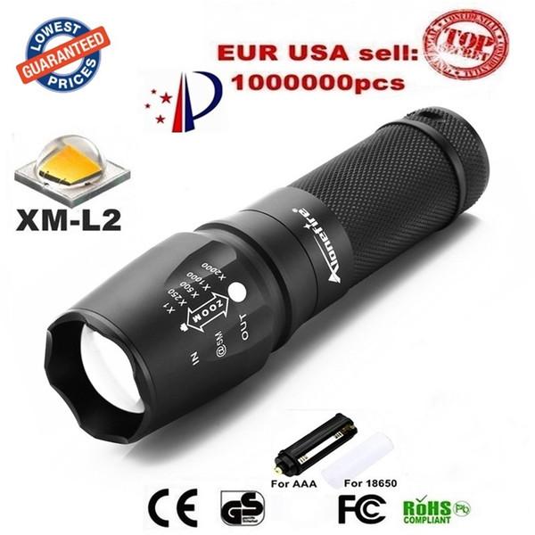 X800 2200LM Zoomable LEVOU arma Lanternas táticas lanterna à prova d 'água cree XM-L2 led lanterna ajustável Camping Caminhadas lamplight