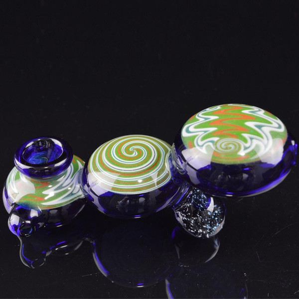 Colorful Glass Oil Pipes Artistic Pipes Cute Hand Pipes Lolly Shape Glass Smoking Pipes for Tobacco Caterpillar Glass Bongs Oil Burners