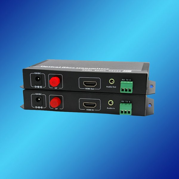 HDMI + RS232+Audio over Fiber Transceiver, HDMI Transceiver, HDMI-Optic-HDMI Media Converter, HDMI/RS232/Audio Extender SM, SX.
