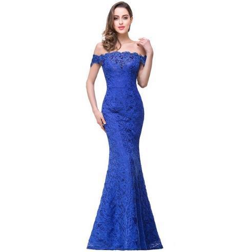 Cheap Purple Lavender Beaded Mermaid Lace fashion beautiful Bridesmaid Dress Long Vestido de Festa Casament free shipping