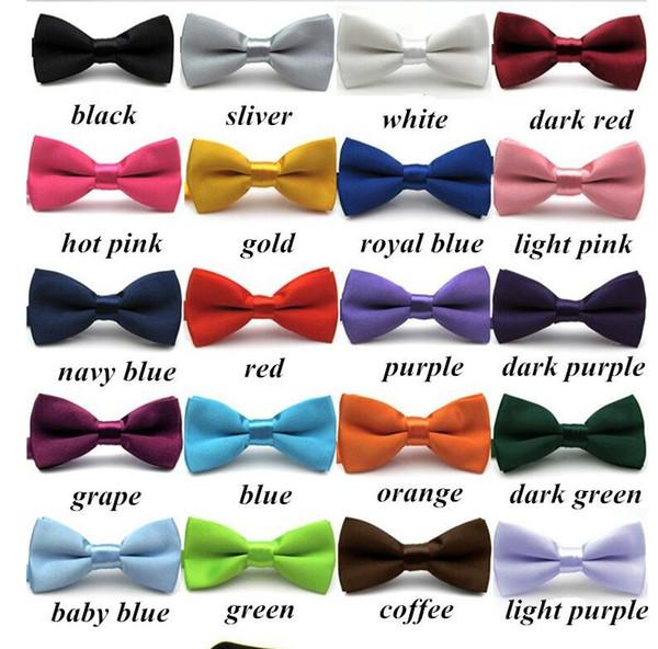 Новые мальчики девочки Школа моды галстук-бабочку для детей Боути твердые конфеты красочные детские бабочка галстук Гравата