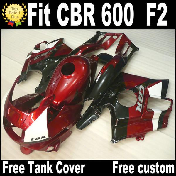 7 regalos gratis para HONDA CBR 600 F2 carenados personalizados 1991 1992 1993 1994 negro rojo CBR600 91 - 94 kit de carenado RP7