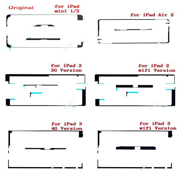 100% Original Genuine Touch Screen Adhesive Sticker Strip for iPad mini 2 3 4 Air 5 ipad 6 3G 4G WiFi Free shipping