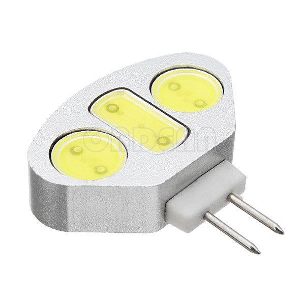 Livraison gratuite 10 / pcs Dimmable G4 5W 4500LM lampes à LED COB AC / DC 12V CE ROHS