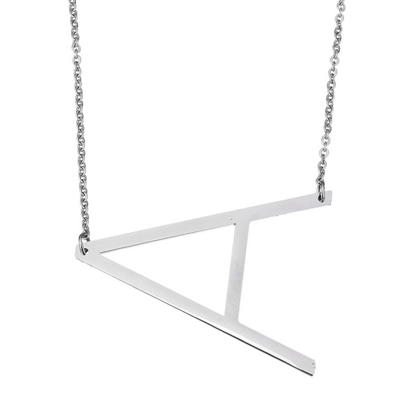Wholesale 2017 fashion stainless steel letter necklace pendants wholesale 2017 fashion stainless steel letter necklace pendants statement necklace body long chain jewelry for mozeypictures Images