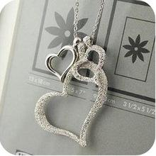 New korean network accessories scrub heart fashion necklace for lovers