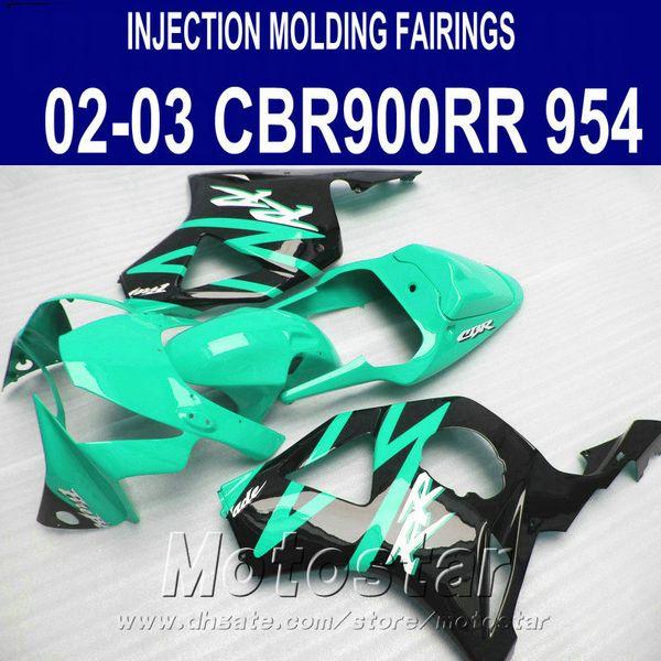 Injection molding ABS fairing kit for Honda CBR900 RR fairings 954 02 03 CBR 954RR green black new aftermarket CBR900RR 2002 2003 YR86