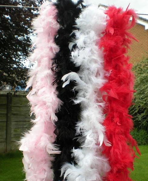 Boa di piume 200 cm burlesque showgirl gallina notte vestito operato da ballo festa accessorio costume da sposa decorazione 17colors