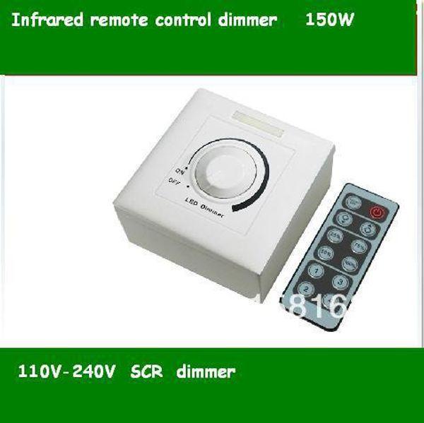 Compre De La De 150w Atenuadores Wholesale Atenuador IR 110V Controlados Interruptor Silicio Lámpara LED De Entrada De 300w Dimmer 60w De 220V OuTkXPZiw