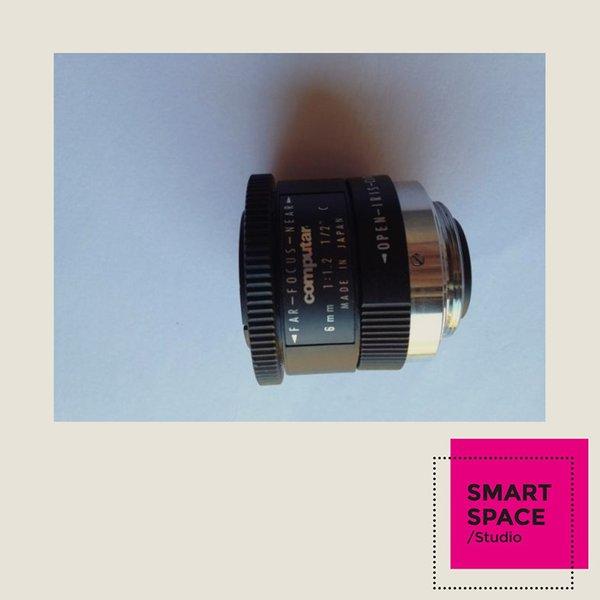 Obiettivo CCTV Obiettivo con attacco C per fotocamera computar 6mm 1: 1.2 1/2 Cmount usato di seconda mano 90% nuovo