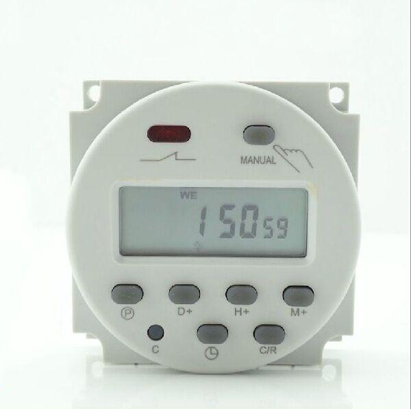 Nuevo 12V 16A Time LCD Digital Power Temporizador programable de CA Interruptor de relé 200v / 12v / 24v / 110v