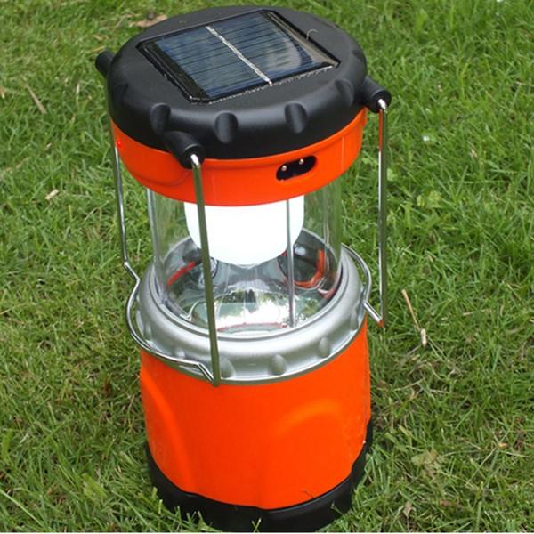 Lampada da campeggio a LED solare ricaricabile con uscita USB per telefono, lampada a lanterna portatile a LED UltraBright 11 con illuminazione esterna